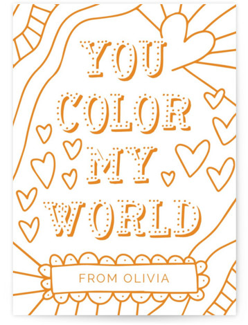 Color My World Classroom Valentine's Day Cards