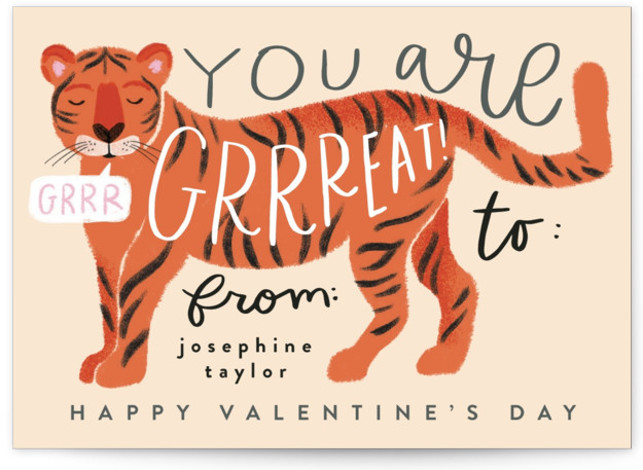 Great Tiger Classroom Valentine's Day Cards