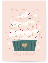 You're Sweet Foil Valentine Cards