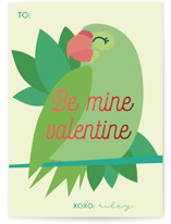 Bird Love Foil-Pressed Classroom Valentine's Day Cards