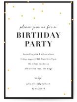 Gold Confetti Birthday Party Online Invitations