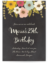 Plentiful Blossoms Birthday Party Online Invitations