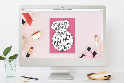 Ringing & Writing Bachelorette Party Online Invitations