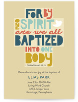 Crafted Baptism Baptism and Christening Online Invitations