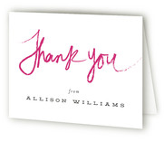 Lipstick Bachelorette Party Thank You Cards