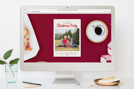 Holly-day Party Christmas Online Invitations