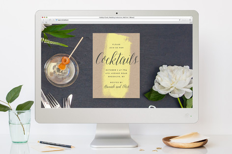 Art Gallery Cocktail Party Online Invitations