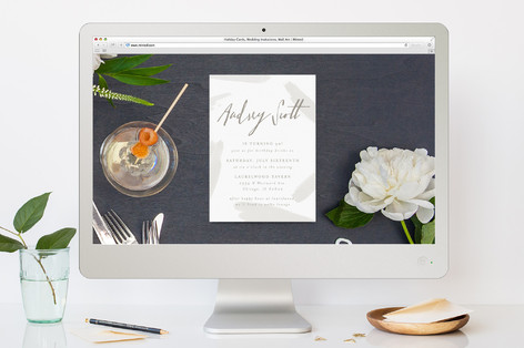 Subtle Brushstrokes Cocktail Party Online Invitations