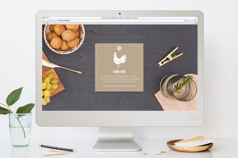 Farm Fare Dinner Party Online Invitations