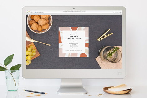 Shapes Dinner Party Online Invitations
