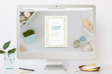 Painted Petals Easter Online Invitations