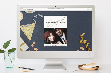 Glam Engagement Engagement Party Online Invitations