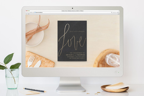 Love Letters Engagement Party Online Invitations