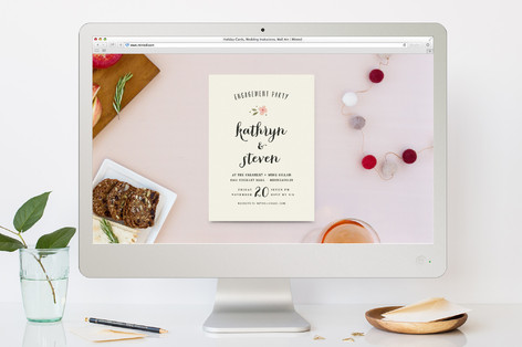 Beginning Engagement Party Online Invitations