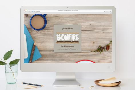 S'More Bonfire Fall Party Online Invitations