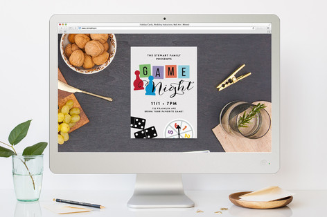 Game Night Get-Together Sport and Event Online Invitations