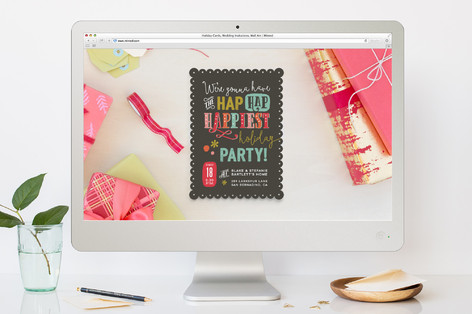 Hap Hap Happiest Holiday Party Online Invitations