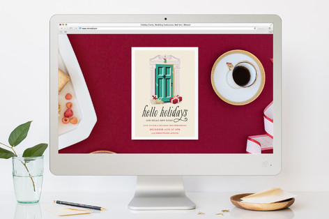 Hello New Home Holiday Party Online Invitations