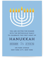 Hanukkah Menorah Hanukkah Online Invitations