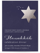 Menorah Lights Hanukkah Online Invitations