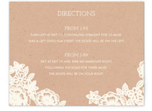 Lace and Kraft Direction Cards