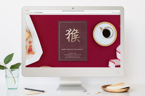 Year of the Monkey Lunar New Year Online Invitations
