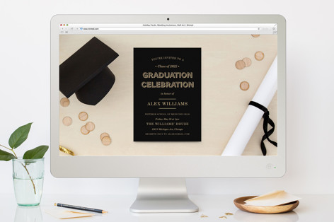 Wood Grain Graduation Online Invitations