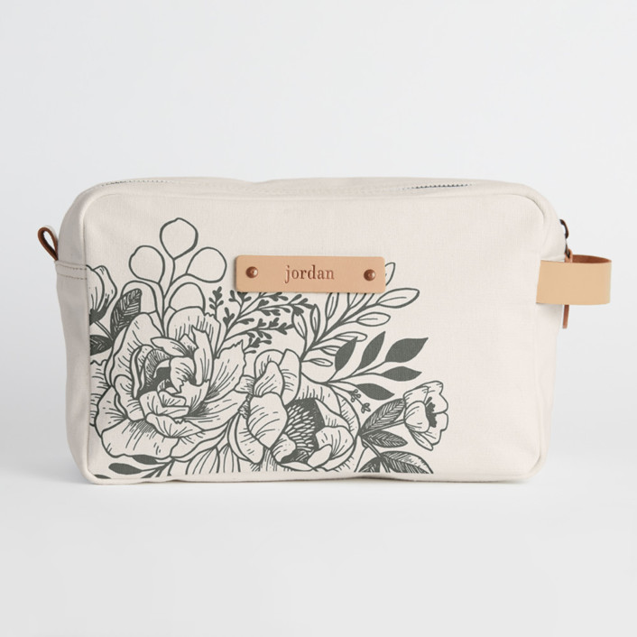 Etched Flowers Dopp Kit