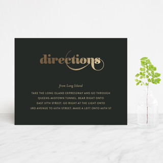 Swirling Romance Foil-Pressed Direction Cards