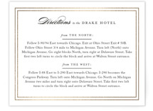Eloquence Foil-Pressed Direction Cards