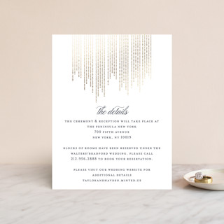 Sparkle Foil-Pressed Direction Cards
