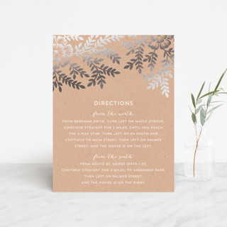 Leaves and Kraft Foil-Pressed Direction Cards