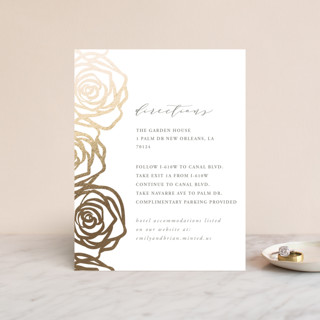 Rose Box Foil-Pressed Direction Cards