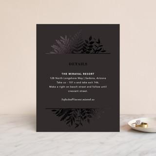 Garden Foil-Pressed Direction Cards