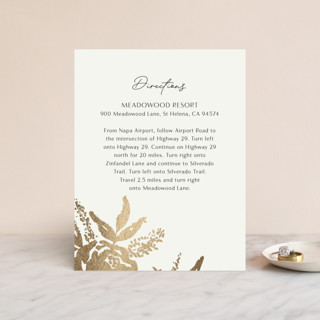 Wedding veil Foil-Pressed Direction Cards