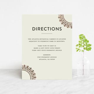 mandala Foil-Pressed Direction Cards