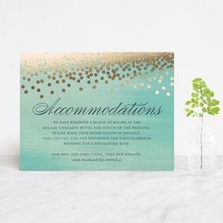 Confetti Foil-Pressed Direction Cards