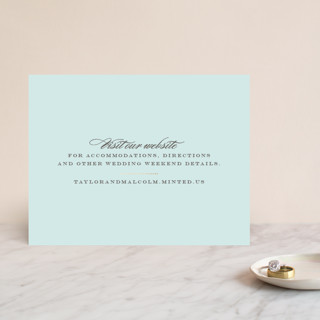 Charming Go Lightly Foil-Pressed Direction Cards