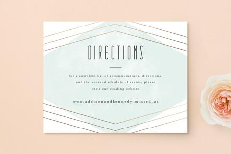 Elegant Angles Foil-Pressed Direction Cards