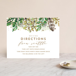 Bohemian Beauty Foil-Pressed Direction Cards