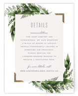 Diamante Foil-Pressed Direction Cards