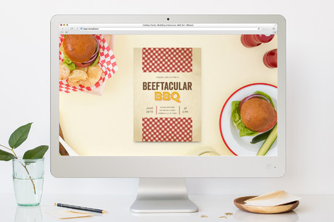 Beefacular Bbq Summer Party Online Invitations