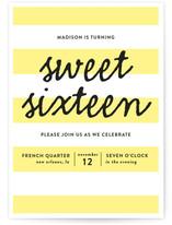 Stripes Teen Birthday Party Online Invitations