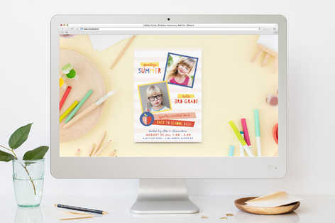 Hello Goodbye Back-To-School Party Online Invitations