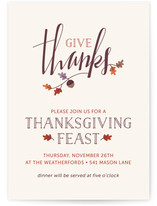 Feast of Thanks Thanksgiving Online Invitations