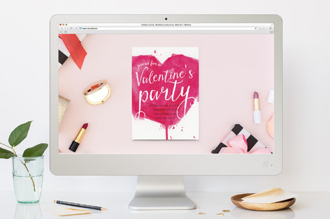 Painted Valentine Valentine's Day Online Invitations