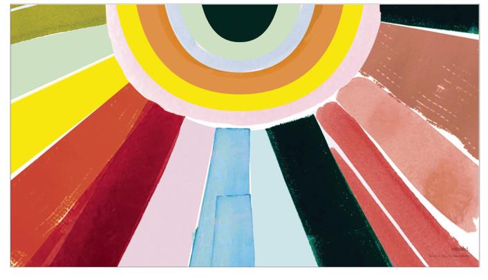 Rainbow Rays Desktop Wallpaper
