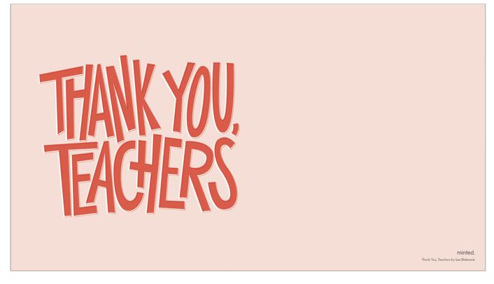 Thank You, Teachers Desktop Wallpaper