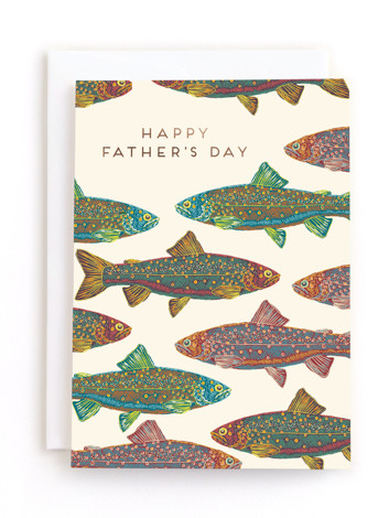 Fishy Foil-Pressed Father's Day Greeting Cards