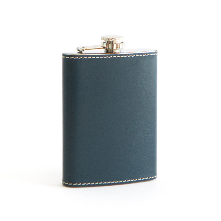 Navy Leather Flasks